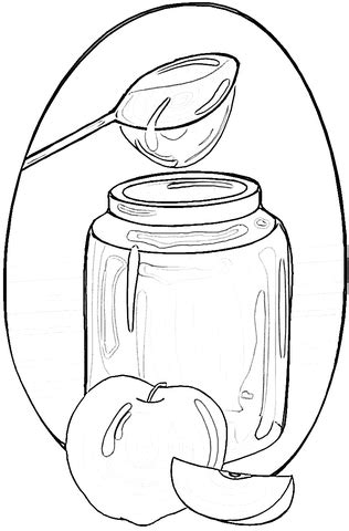 Apple Coloring Pages Page Photo Honeys With Rosh Hashannah