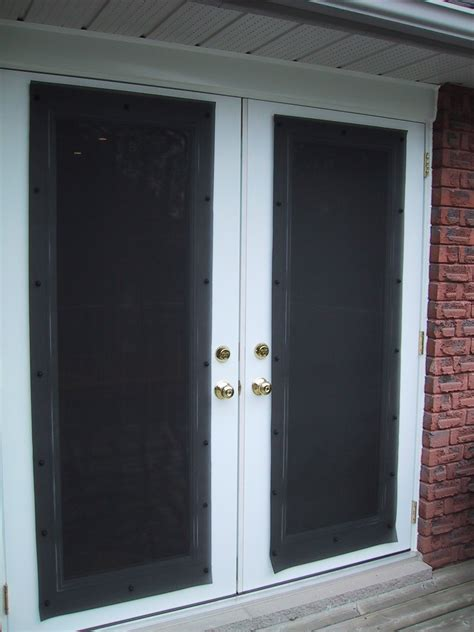Exterior Door Shades Interior Brown Wooden Door With White Roll Blind Combined With Grey Painted Wall As Well