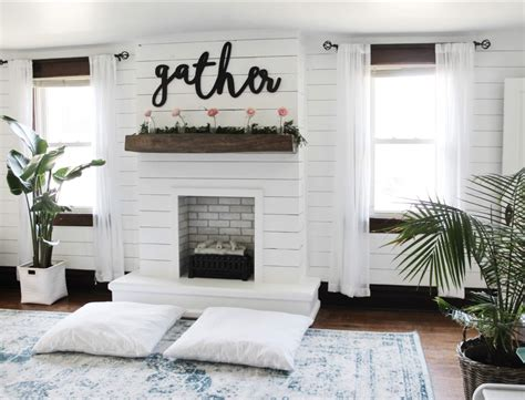shiplap next to fireplace diy shiplap fireplace the definery co