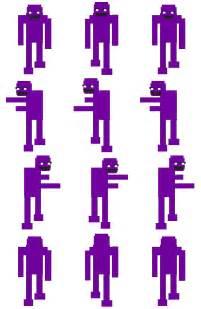 Fnaf 3 purple guy rpg maker vx sprite sheet by creepypasta81691 on