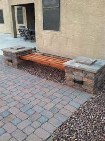 how to make a brick bench diy rumblestone 4 beam bench with spacers and 5 8