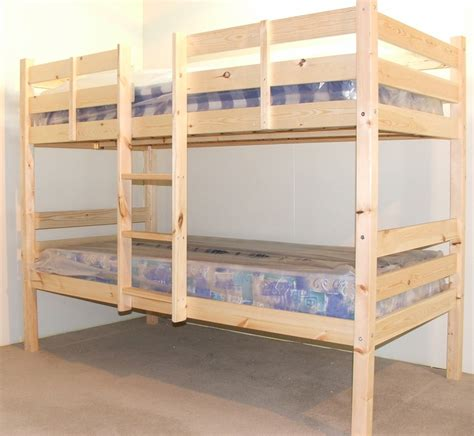 heavy duty bunk beds chester 2ft 6 small single solid pine heavy duty bunk bed