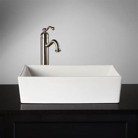 interior design 17 rectangular vessel sinks interior designs abbett rectangular vessel sink also 140 length 18 3 4