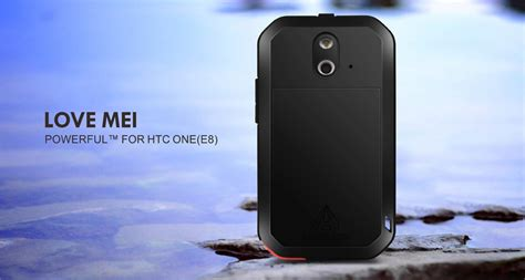 Armor Bumperlove Mei Powerful Small Cover Casing Htc One M7 mei powerful water resistant shockproof dust dirt snow proof alum armor king