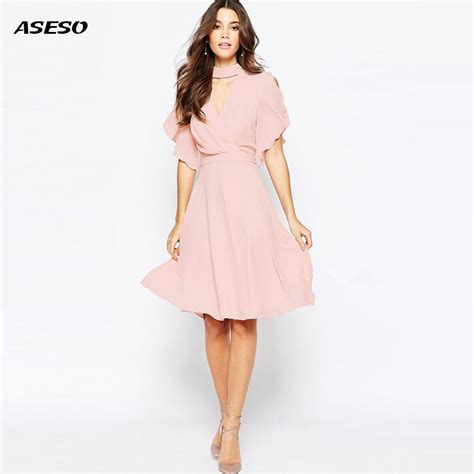 Hairstyles For Casual Dresses | 2017 new chiffon dress women summer casual faux tiwnset