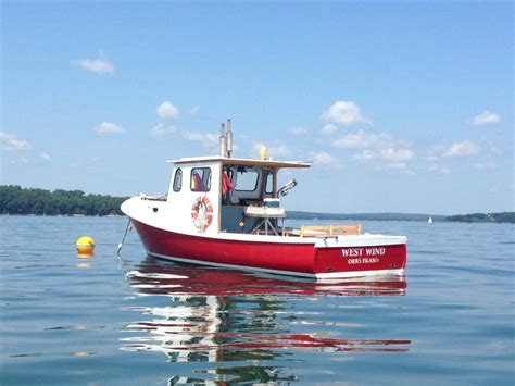 maine lobster boat west wind lobster boat tours come aboard this red beauty