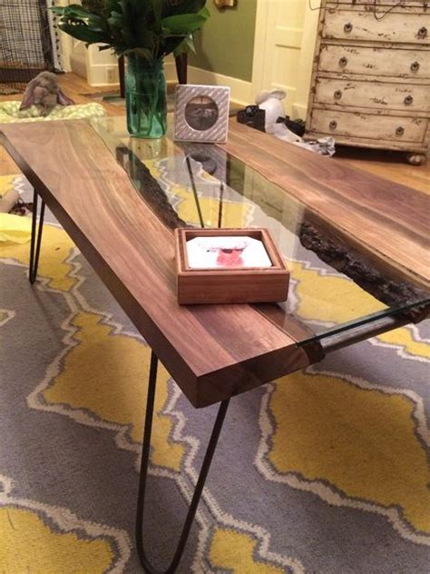 Rivers Edge Dining Room Furniture by Live Edge River Coffee Table Glass And Tables With Top