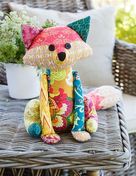 Patchwork Animal Patterns - patchwork fox from homespun magaaine dolls and toys