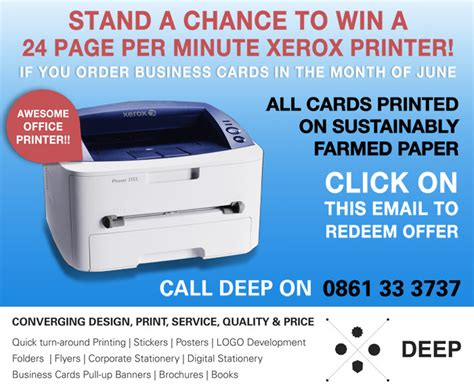 xerox phaser business card template business cards competition win a printer
