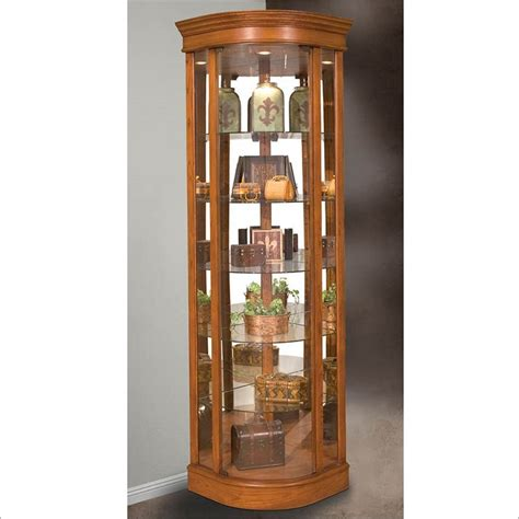 Corner Curio Cabinets In White Lighthouse Auberge Ii Corner Curio Cabinet By Philip