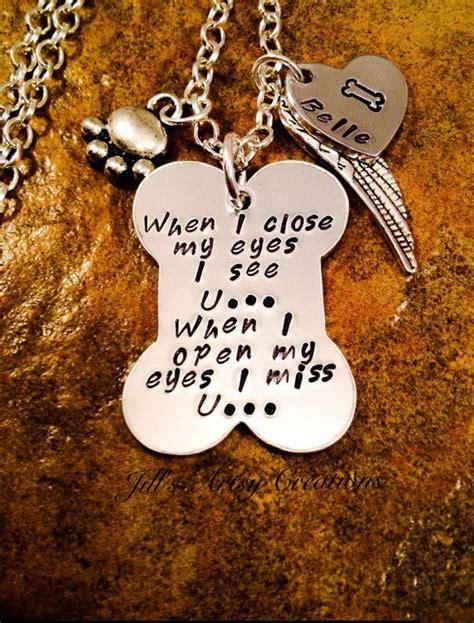 pet memorial necklace  memory  pet necklace