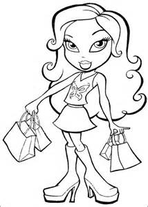 bratz coloring pages free printable coloring pages cool coloring pages