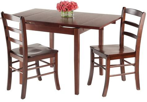 3 piece dining room set pulman 3 piece extendable dining room set 94352 winsome