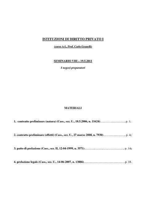 diritto privato dispense istituzioni di diritto privato i i negozi preparatori