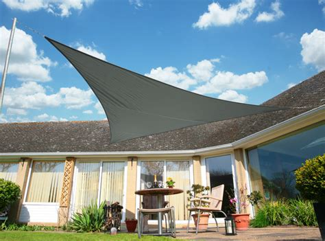 triangle awnings canopies kookaburra 5m triangle charcoal waterproof woven shade sail