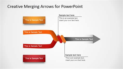 powerpoint multiple templates for one presentation creative merging arrows for powerpoint slidemodel