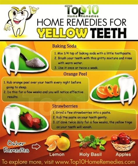 get clean teeth at home in my