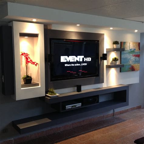 home design tv unit units and walls on pinterest tv in wall made with gypsum board family rooms