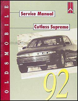 1992 oldsmobile cutlass supreme repair shop manual original
