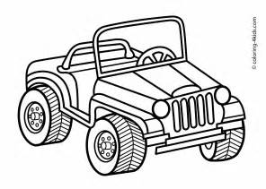 jeep transportation coloring pages for printable