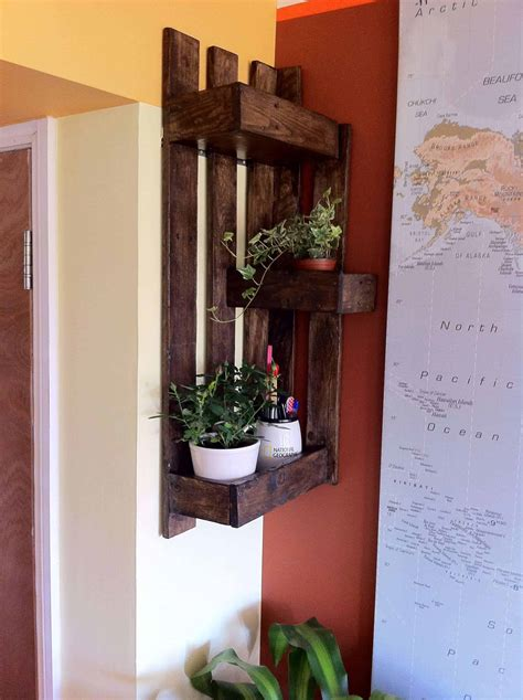corner pallet wall shelf  pallets