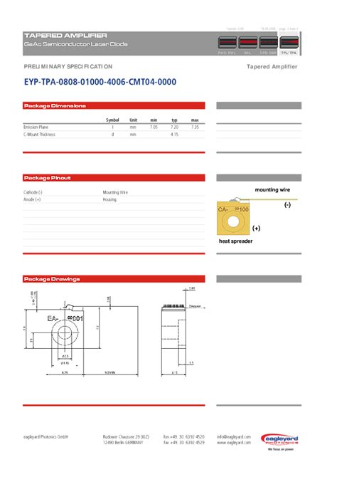 diodes website 1w laser diode 808nm 1000mw laser from eagleyard