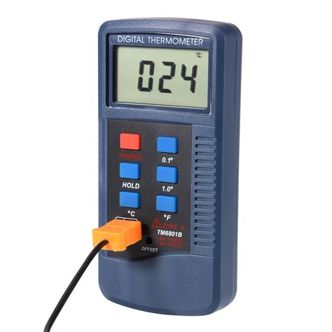 Meter Temperature Wira Lcd Type K Digital Thermometer Sensor Temperature Meter