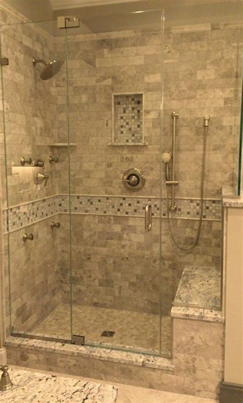 bench in the shower tile shower with bench pollera org
