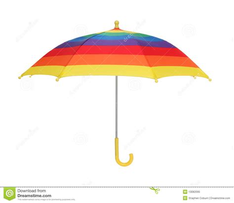 Rainbow Umbrella stock image. Image of stylish, close