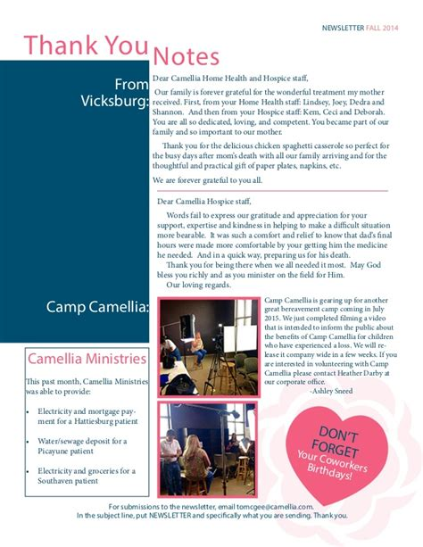 camellia healthcare newsletter october 2014