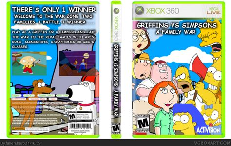 Doh On The Xbox The Simpsons Get Into Gaming by Griffins Vs Simpsons A Family War Xbox 360 Box Cover