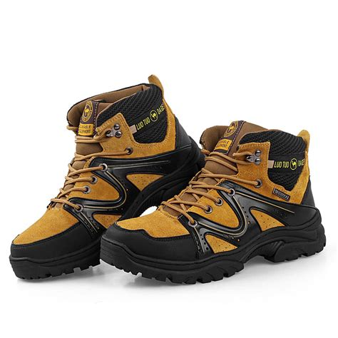 2016 new fashion waterproof canvas hiking shoes boots anti