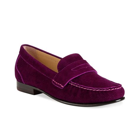 cole haan suede loafers cole haan loafer flats in purple winery