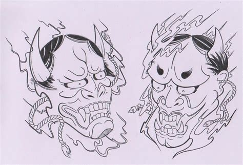 death mask tattoo designs collection of 25 oni mask outline design