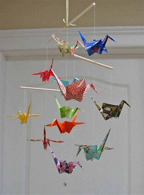 How To Make A Paper Mobile For Nursery - 25 best ideas about origami mobile on origami