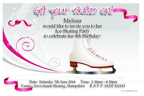 Best Photos Of Ice Skating Party Invitation Templates Ice Skating Birthday Party Invitations Skating Invitation Template Free