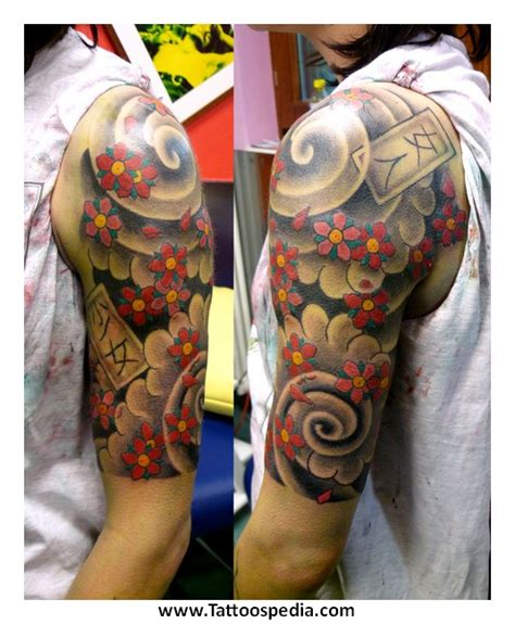 tattoo three quarter sleeve quarter sleeve tattoo design ideas 3