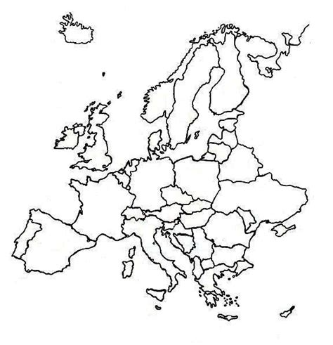Outline Of Continent by Europe Continent Outline Map Pictures To Pin On Pinsdaddy