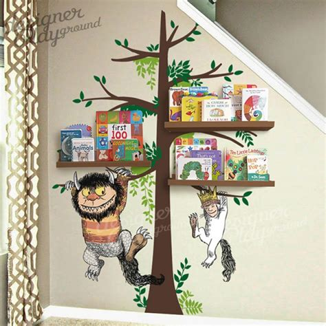where the things are wall stickers where the things are carol max on tree