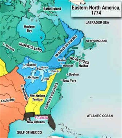 boston map 13 colonies act of 1774