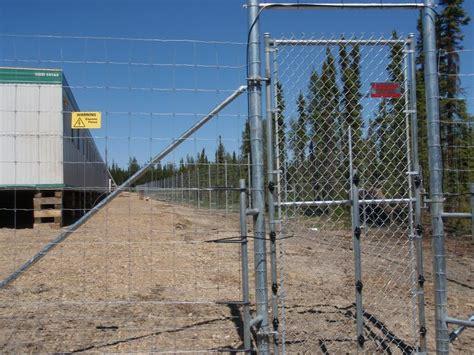 industrial swing gate phoenix fence chainlink commercial industrial swing