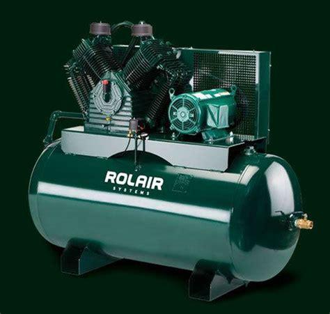 rolair 5hp single phase constant run electric air compressor w 30 gallon air tank h5130k30hb