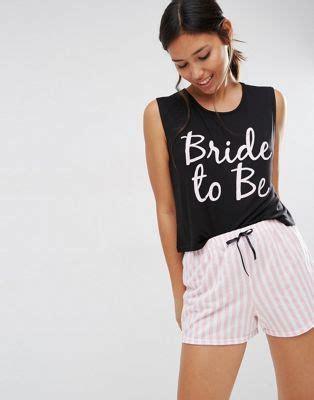 braut pyjama boohoo bride to be schlafanzug hochzeit pinterest