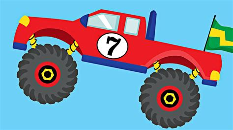 monster truck kids video monster trucks teaching numbers 1 to 10 number counting