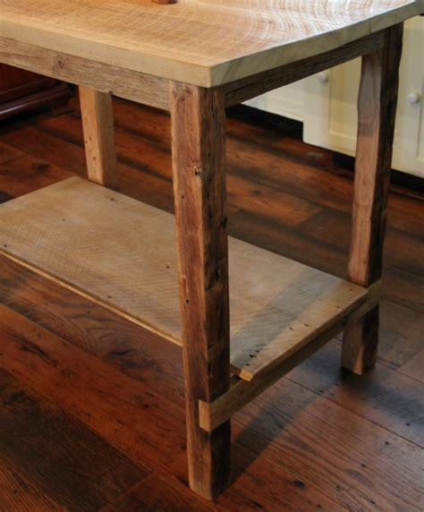barn wood kitchen island reclaimed wood