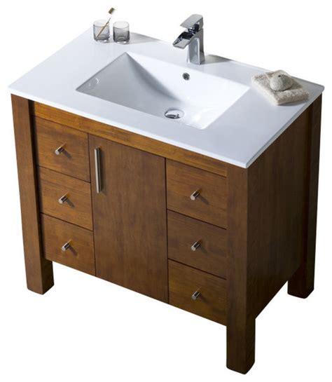 37 bathroom vanity top parsons 37 porcelain top vanity chestnut modern bathroom vanities and sink