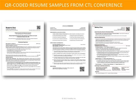 identity management the qr coded resume