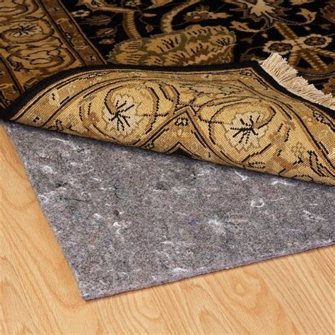 rug slip prevention duo lock reversible felt and rubber non slip rug pad size 5 x 8 rug pad