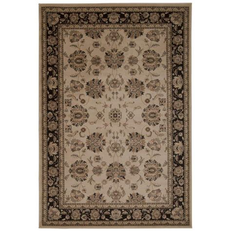 Area Rugs Overstock Nourison Overstock Ararat Ivory Grey 5 Ft 3 In X 7 Ft 4 In Area Rug 254962 The Home Depot