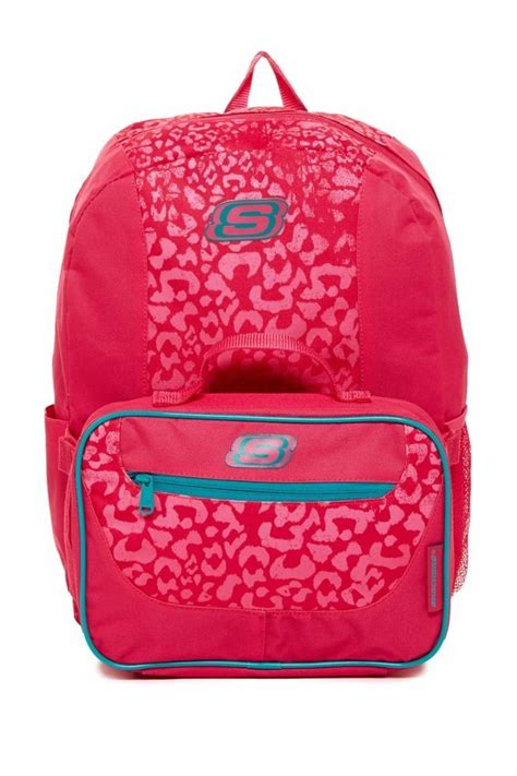 Sketches Bags by Skechers Speedway Combo Bag Backpack Lunch Box Set Pink